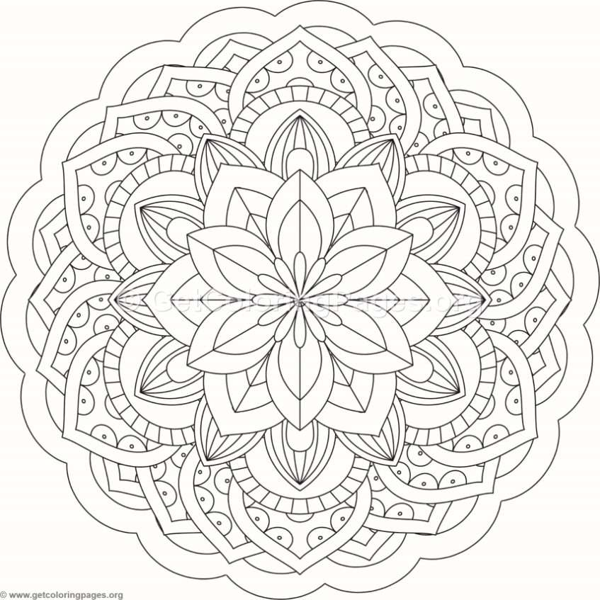 Flower Mandala Coloring Pages 236 Getcoloringpages Org
