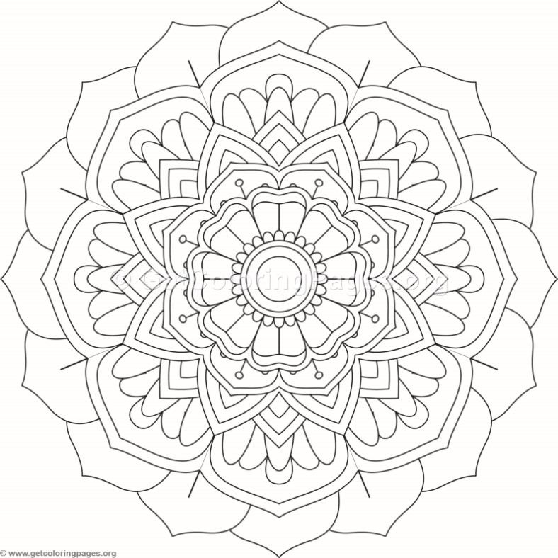 Flower Abstract Coloring Pages : Flower mandala coloring pages #274 u2013 getcoloringpages.org
