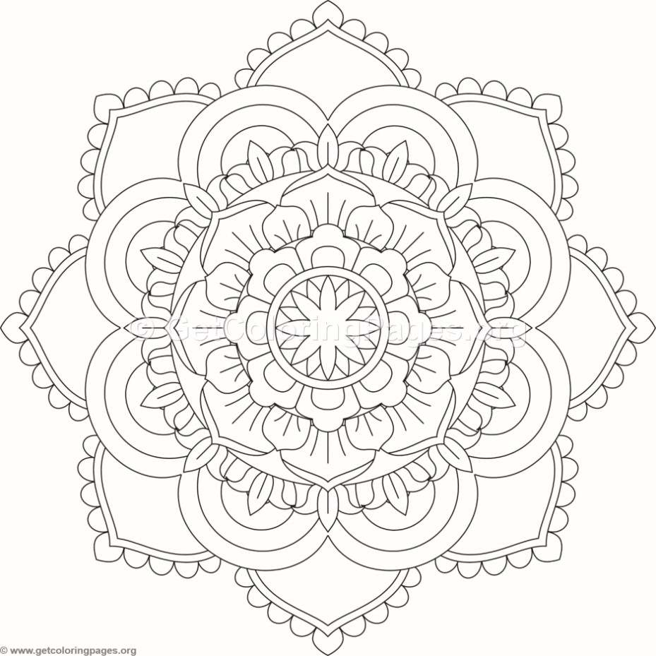 Flower Mandala Coloring Pages 294