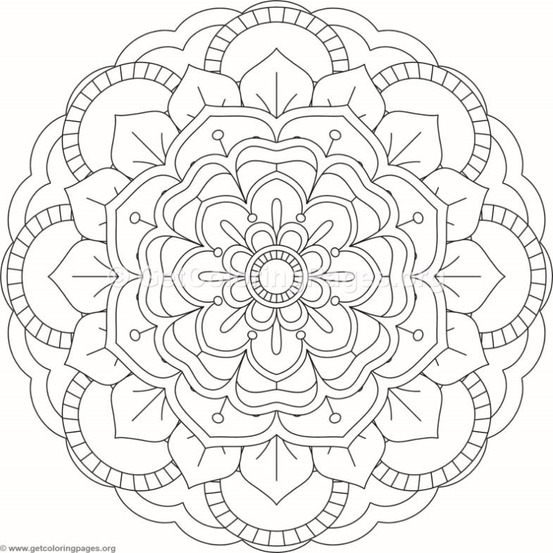 Flower Mandala Coloring Pages 340