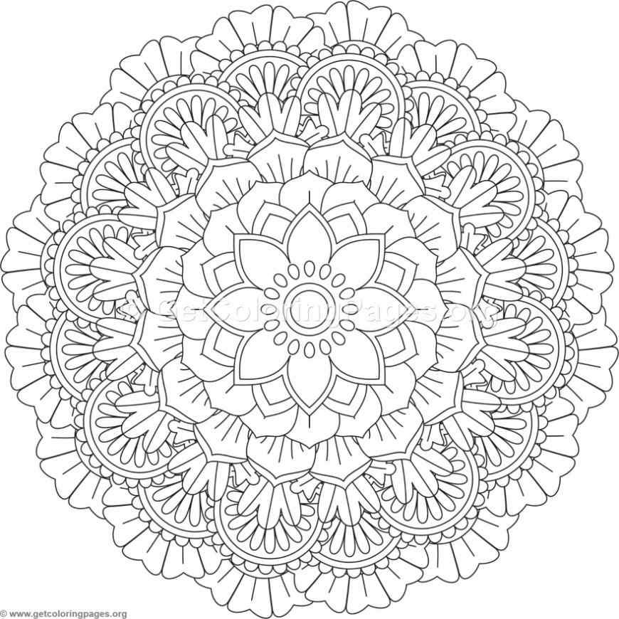 flower mandala coloring pages - flower mandala coloring pages 424