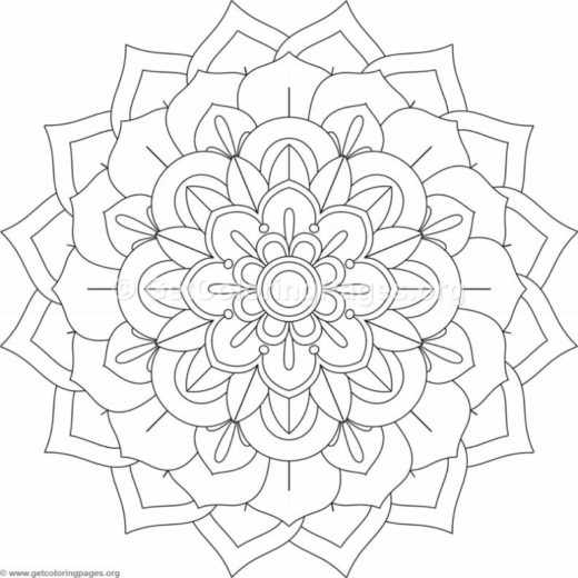 Flower Mandala Coloring Pages 450