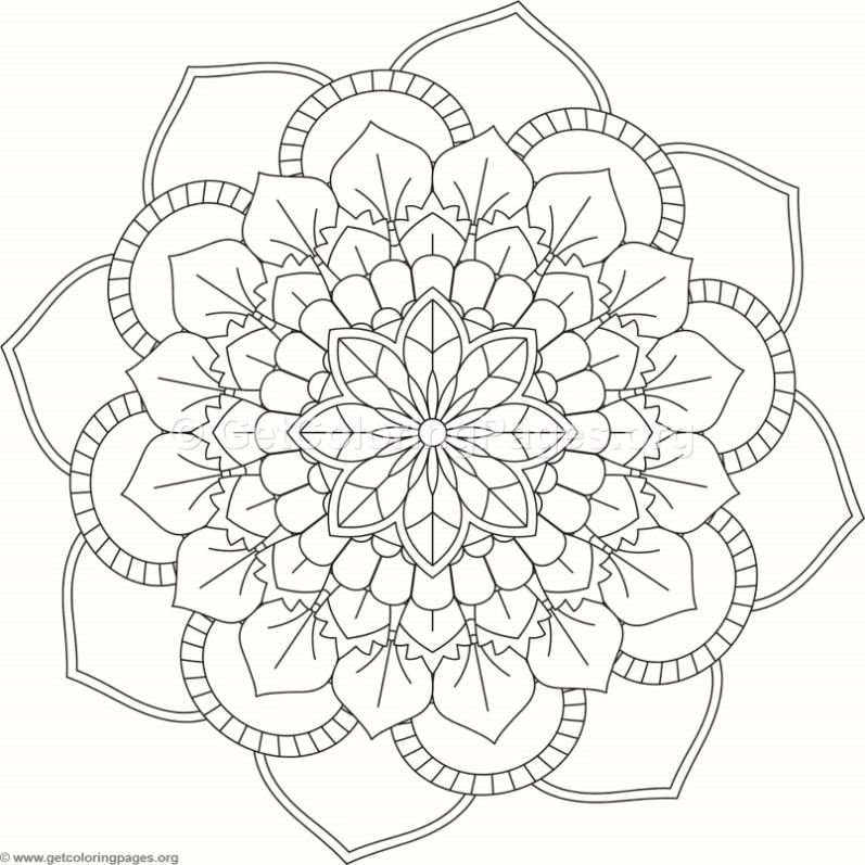 Flower Mandala Coloring Pages 451