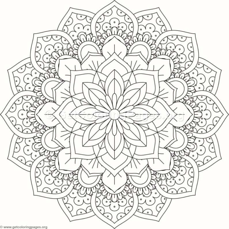 Flower Mandala Coloring Pages 458