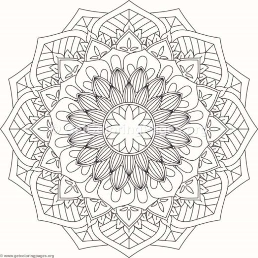Flower Mandala Coloring Pages 468