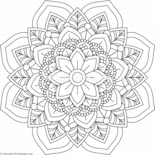 Flower Mandala October Calendar Coloring Pages GetColoringPagesorg