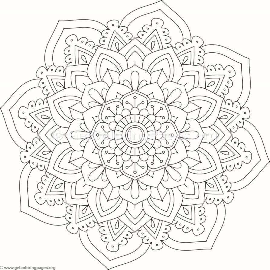 Flower Mandala Coloring Pages 516