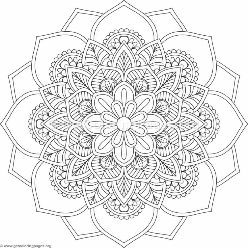Flower Mandala Coloring Pages 526 GetColoringPagesorg