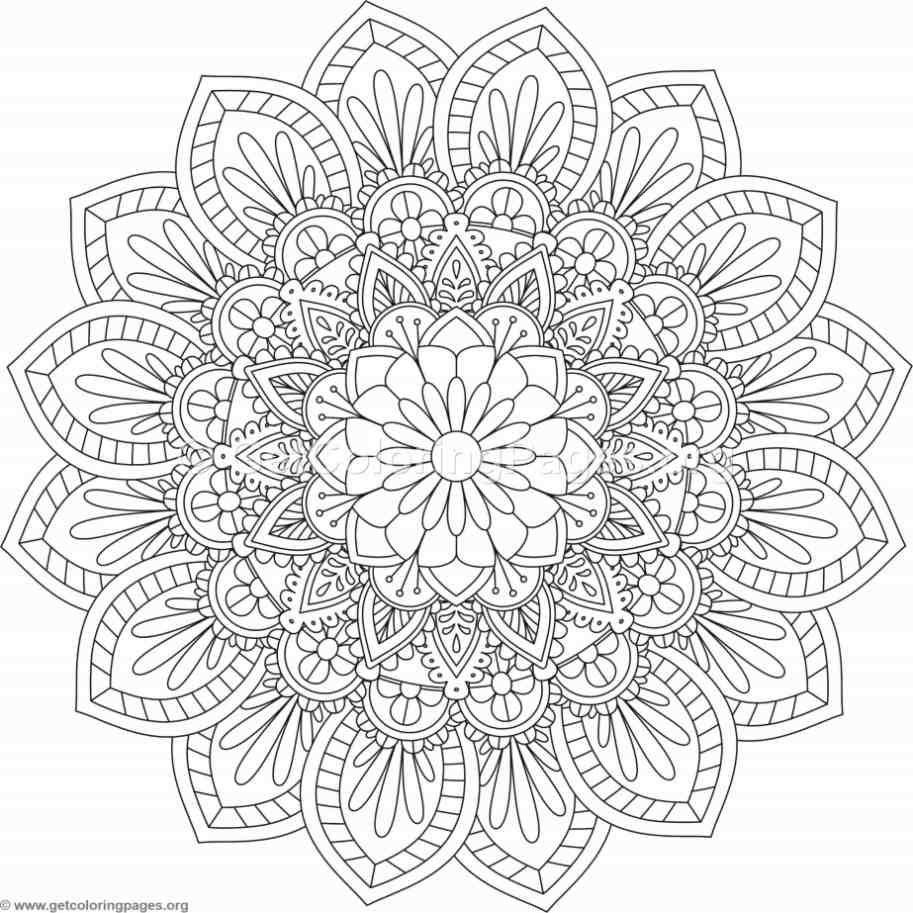 flower mandala coloring pages 529 u2013 getcoloringpages org