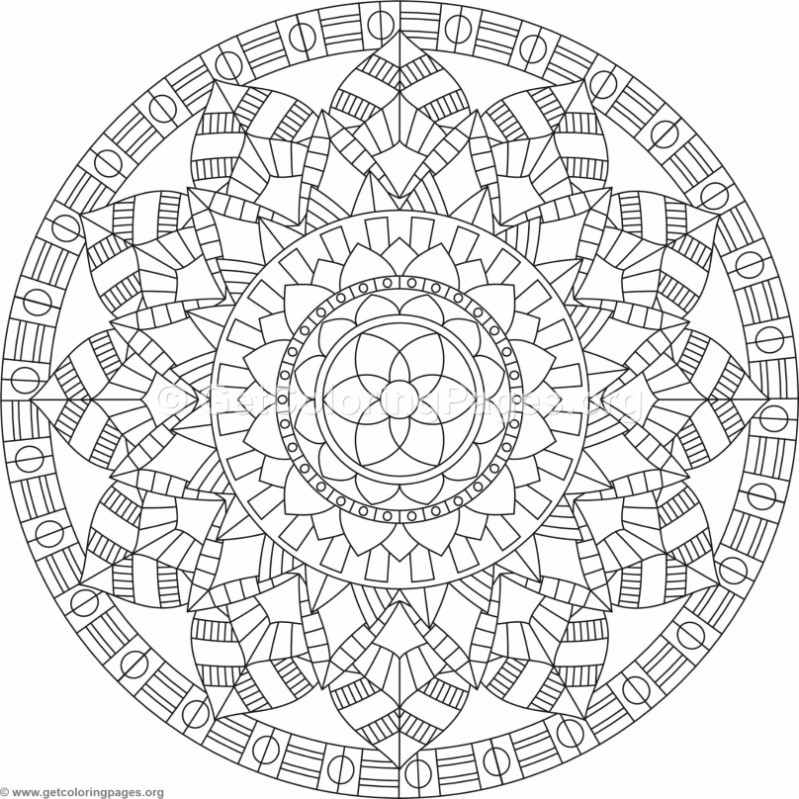 Tribal Mandala Coloring Pages 3 Getcoloringpages Org