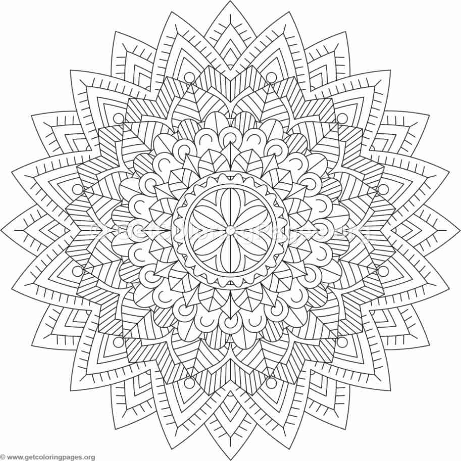 Tribal Mandala Coloring Pages 6 Getcoloringpages Org