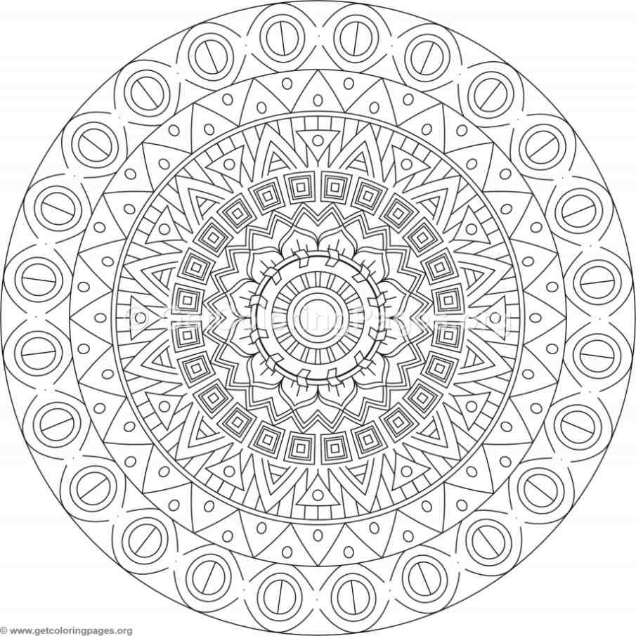 Tribal Mandala Coloring Pages 118 Getcoloringpages Org
