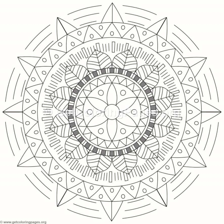 Tribal mandala coloring pages 122 for Tribal coloring pages
