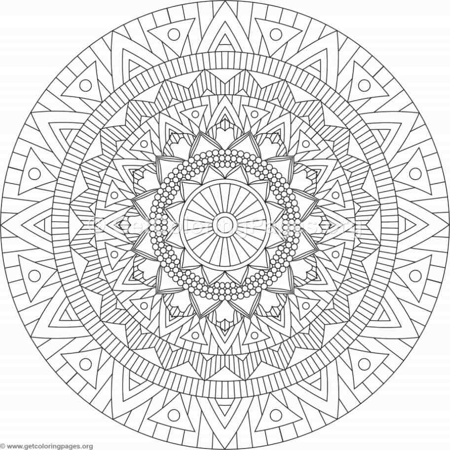 Tribal Mandala Coloring Pages 167