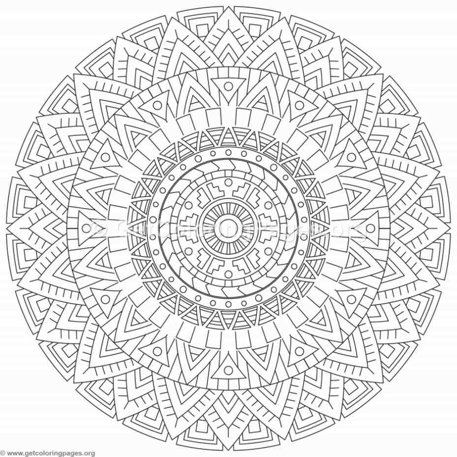 Tribal Mandala Coloring Pages Getcoloringpages