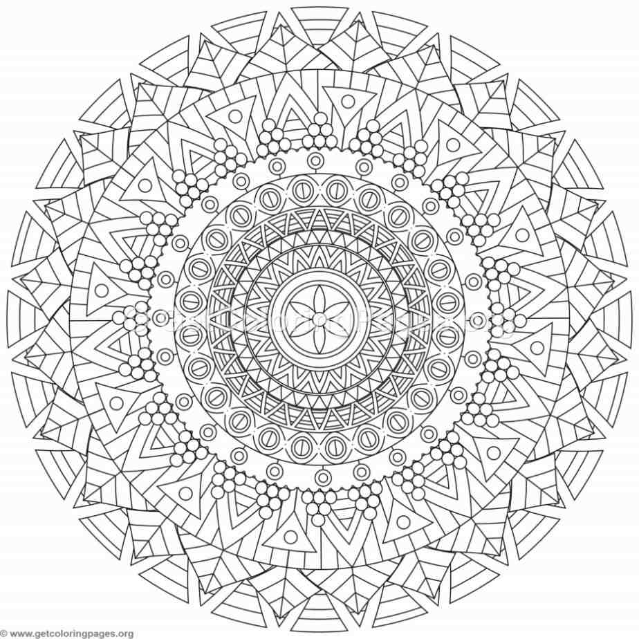 Tribal Mandala Coloring Pages 201 Getcoloringpages Org