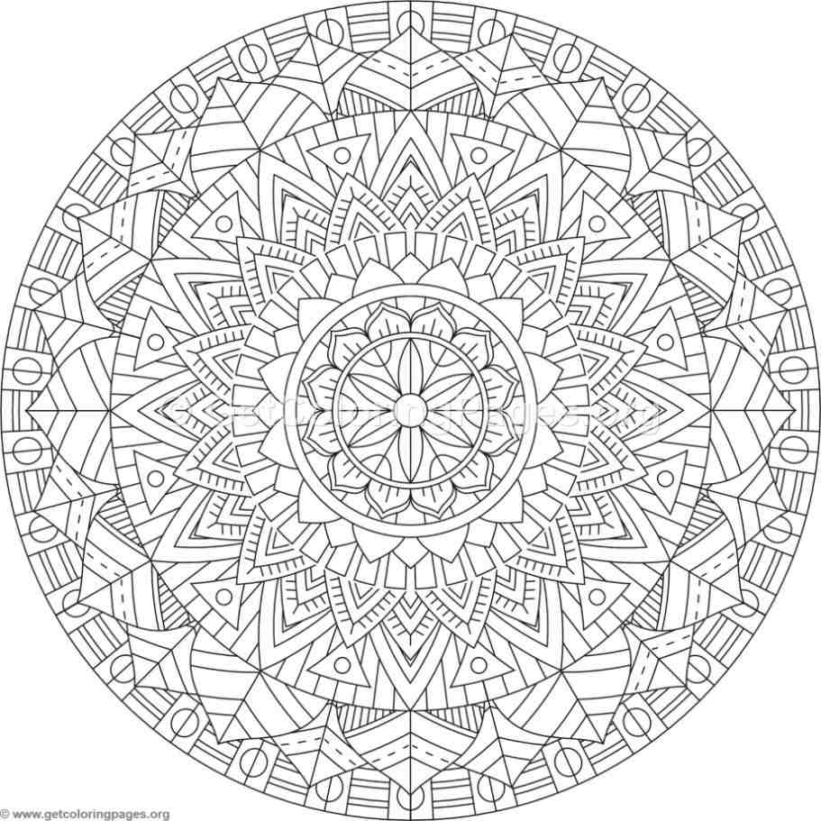 Tribal Mandala Coloring Pages 207 Getcoloringpages Org