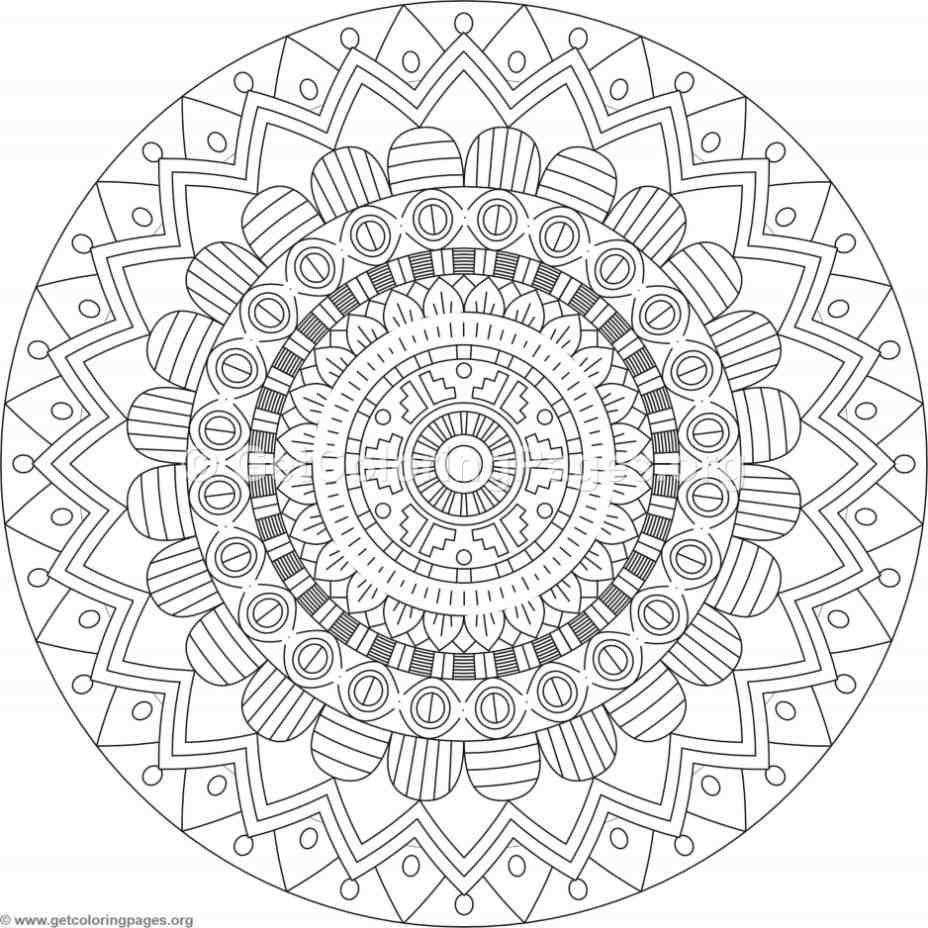 Tribal Mandala Coloring Pages 236 Getcoloringpages Org