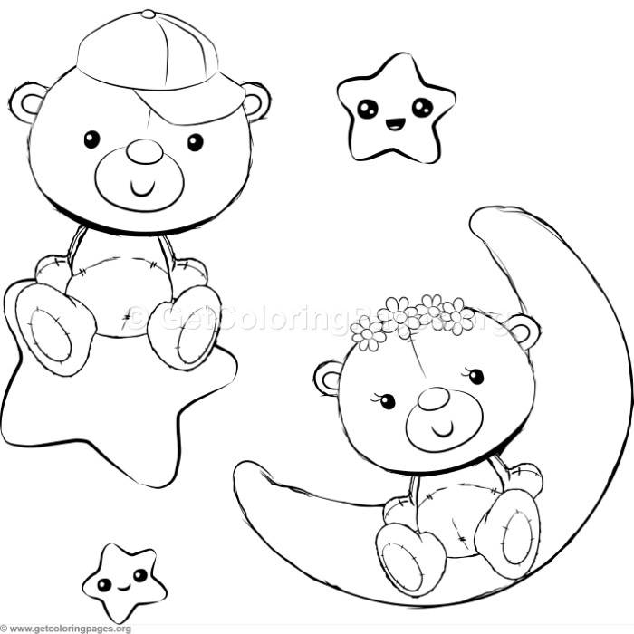 Cute Teddy Bears 14 Coloring Pages Getcoloringpages Org