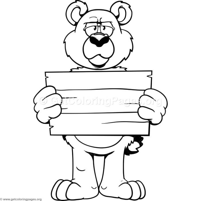 funny cartoon bear coloring pages getcoloringpages org
