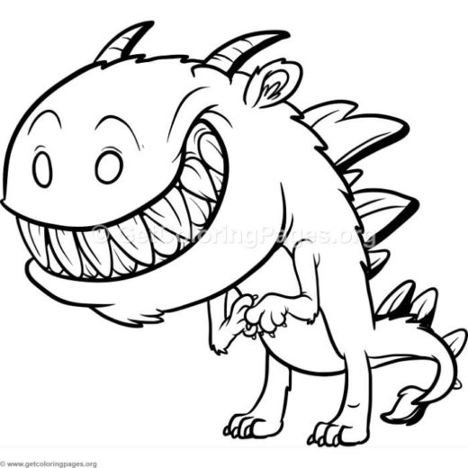Funny Cartoon Monster 3 Coloring Pages