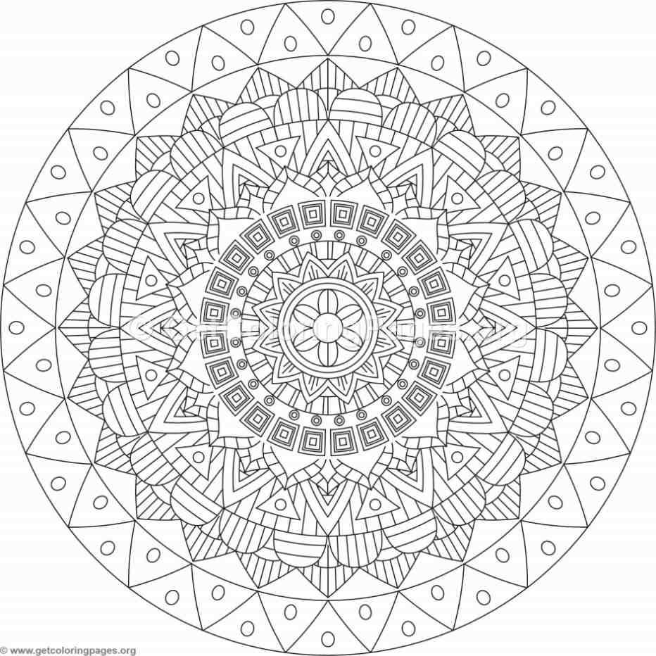 Tribal mandala coloring pages 296 for Tribal coloring pages