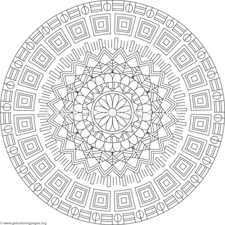 Tribal Mandala Coloring Pages 314 Getcoloringpages Org