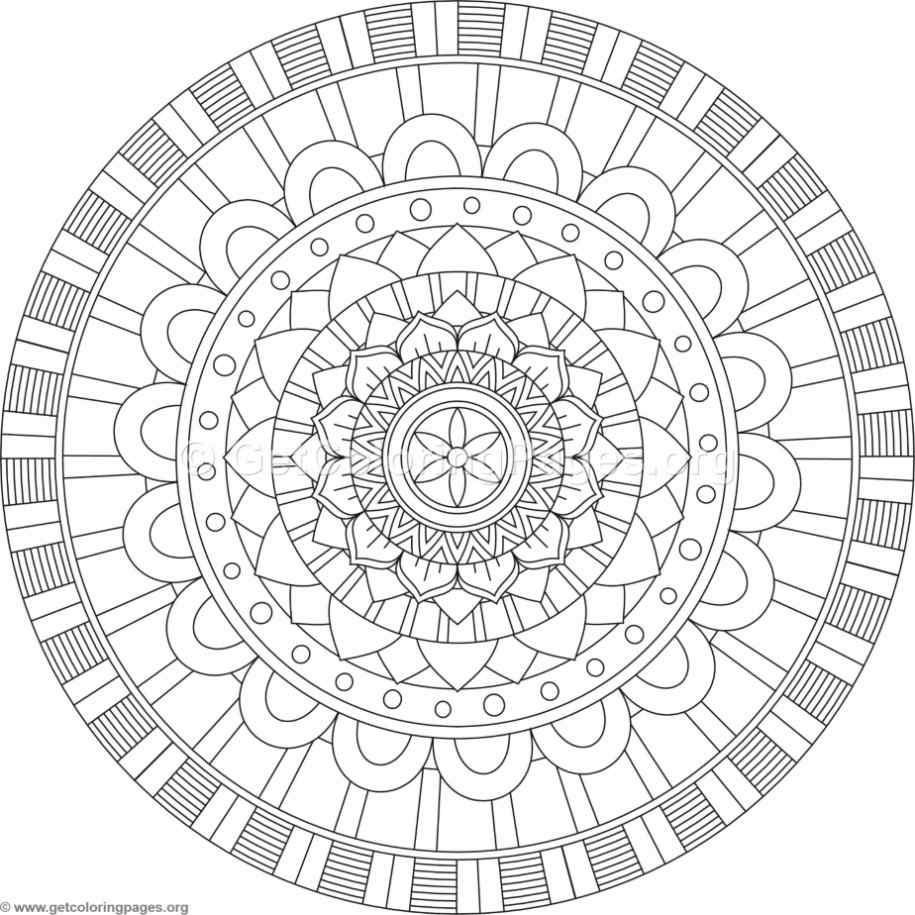Tribal Mandala Coloring Pages 320