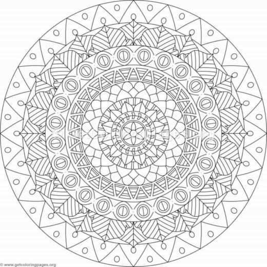 Tribal Mandala Coloring Pages 350