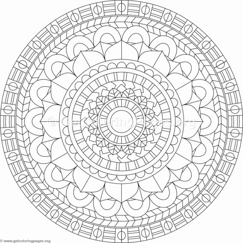 Tribal Mandala Coloring Pages 355 Getcoloringpages Org