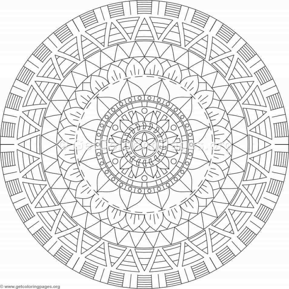 Tribal Mandala Coloring Pages 389 Getcoloringpages Org
