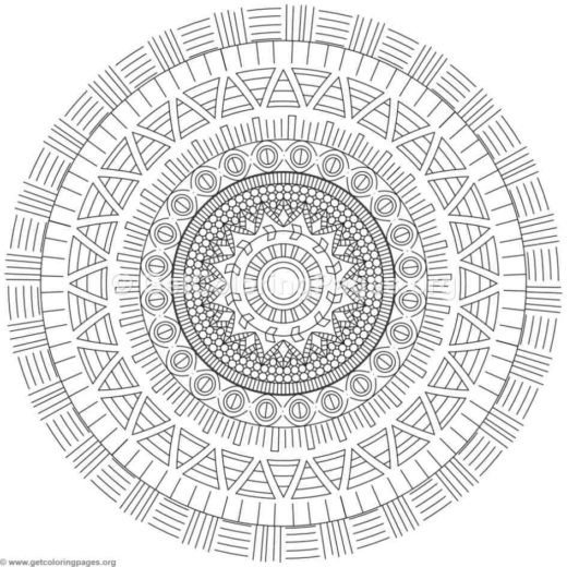 tribal mandala coloring pages 433 - Advanced Mandala Coloring Pages