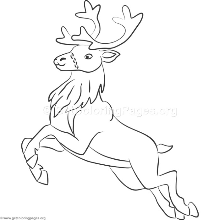 Christmas Reindeer Coloring Pages – GetColoringPages.org