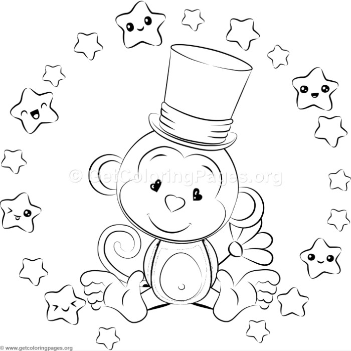Cute Baby Monkey 2 Coloring Pages Getcoloringpages Org