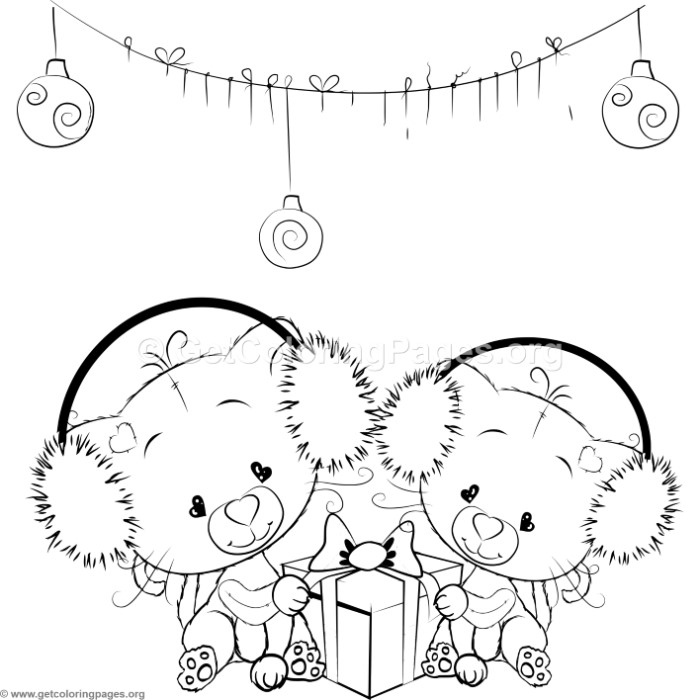 Cute Christmas Cat Coloring Pages – GetColoringPages.org