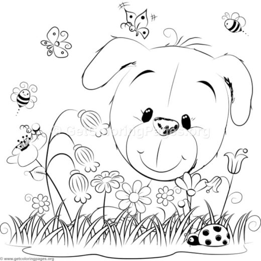 Cute Dog 3 Coloring Pages