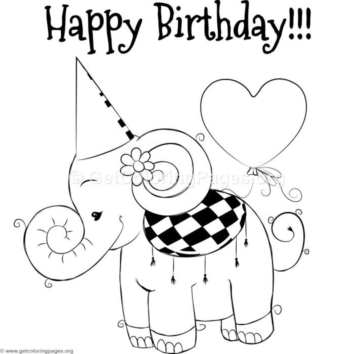 cute elephant 2 coloring pages  u2013 getcoloringpages org