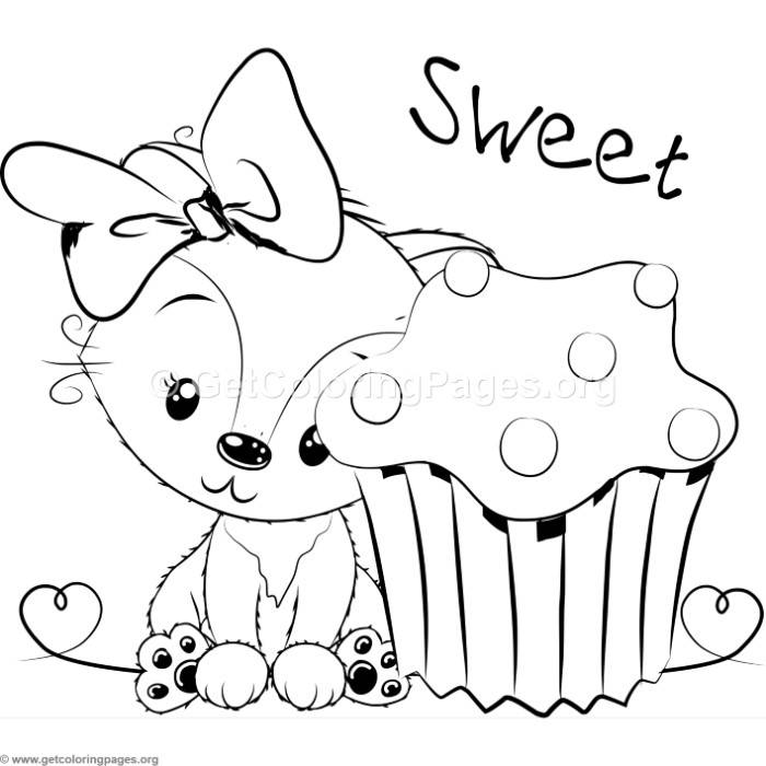 Cute fox coloring pages for Foxes coloring pages