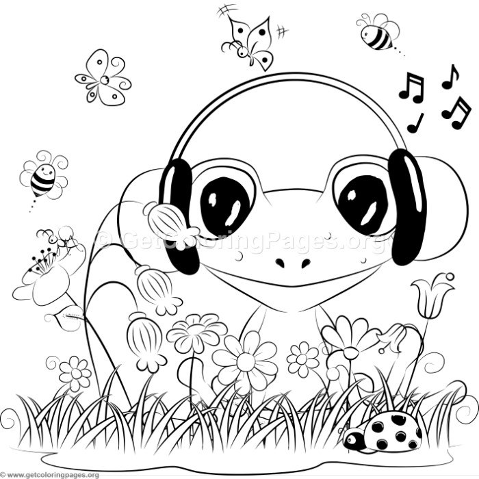 cute frog coloring pages getcoloringpages org