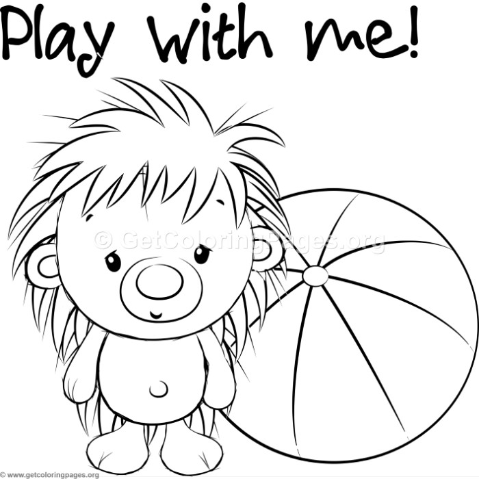 Cute Hedgehog 2 Coloring Pages Getcoloringpages Org
