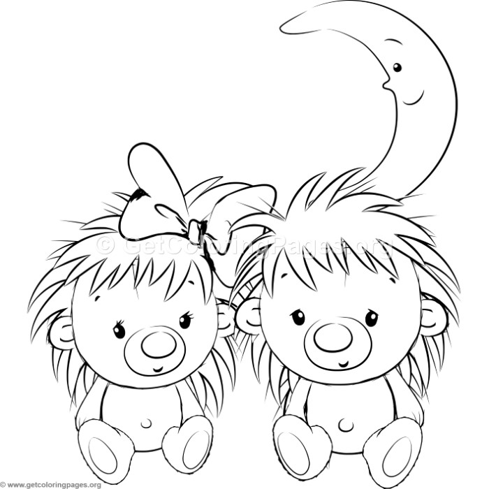 Cute Hedgehog 20 Coloring Pages - GetColoringPages.org