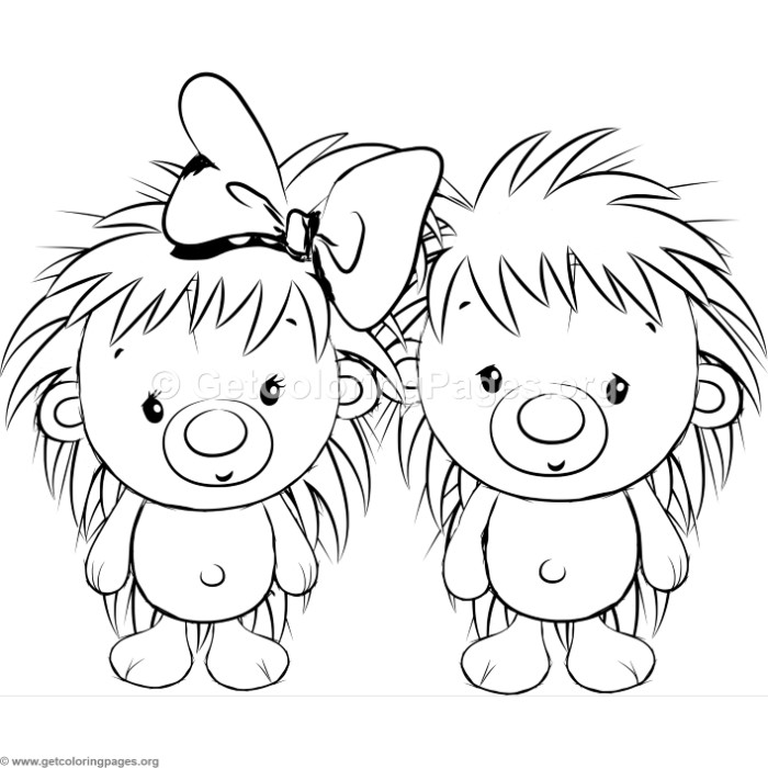 Cute Hedgehog 3 Coloring Pages GetColoringPages