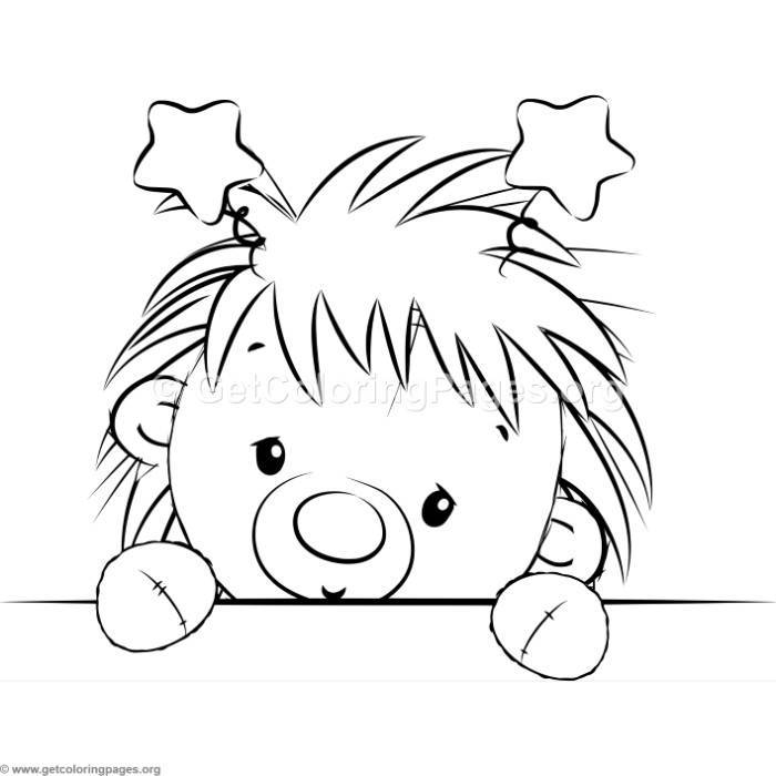 Cute Hedgehog 9 Coloring Pages Getcoloringpages Org