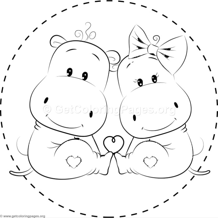 free printable hippo coloring pages cute hippo coloring