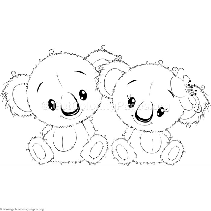 Cute Koala 2 Coloring Pages GetColoringPages