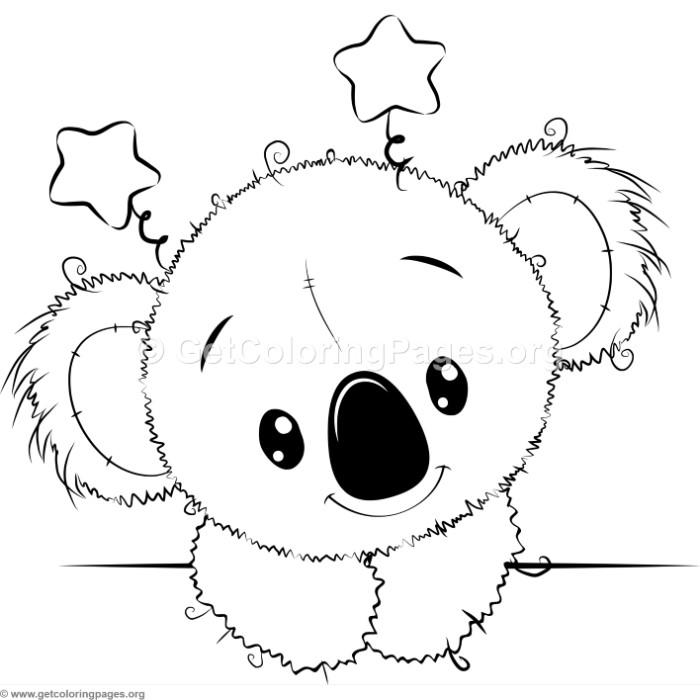 Cute Koala 5 Coloring Pages GetColoringPages