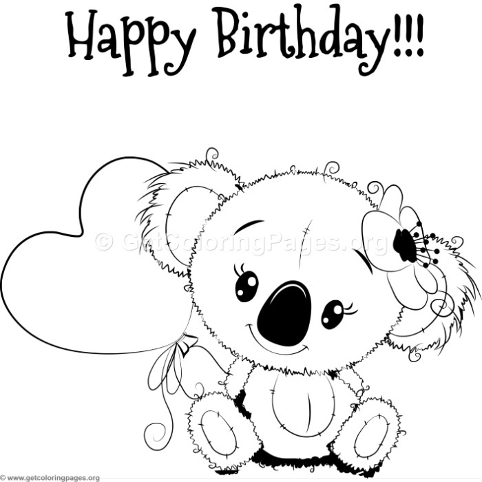 Cute Koala Coloring Pages