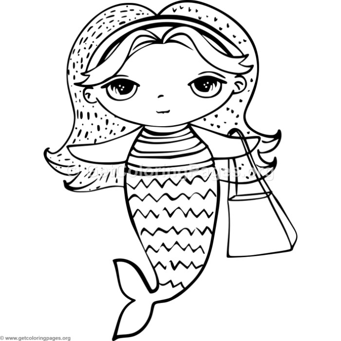 Cute Mermaid 2 Coloring Pages - GetColoringPages.org