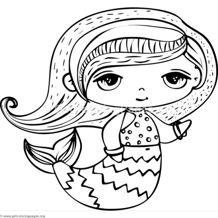 Cute Mermaid Coloring Pages – GetColoringPages.org