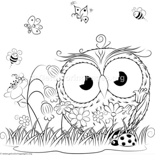 Inspirational word coloring pages 67 for Cute coloring pages of owls